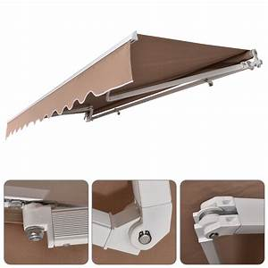13 X 8ft Retractable Awning Manual Outdoor Patio Canopy
