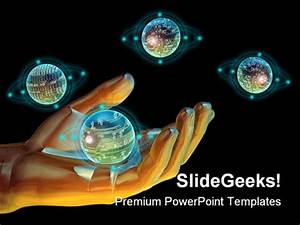 Holding Technology Science PowerPoint Backgrounds And ...
