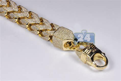 Mens Diamond Franco Bracelet 10k Yellow Gold 4311 Ct 410. Handmade Silver Pendant. Feminine Engagement Rings. Rugged Watches. Illusion Diamond. Emerald Cut Engagement Rings. Gold Ankle Bracelets With Charms. Womens Bands. Racing Bracelet
