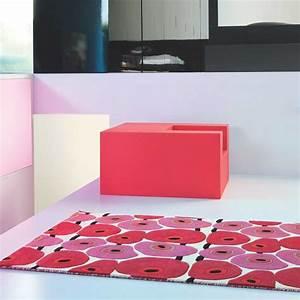 tapis haut de gamme rouge et rose vitalize par ligne pure With tapis chambre bébé avec haut rouge fleuri