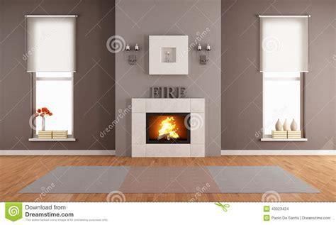 Wohnzimmer Design Modern Mit Kamin by Modernes Wohnzimmer Mit Kamin Stock Abbildung
