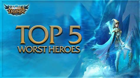 Mobile Legends │top 5 Best Heroes In Ranked Mode