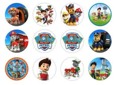 paw patrol edible cupcake toppers for sale in dalkey dublin from flour power