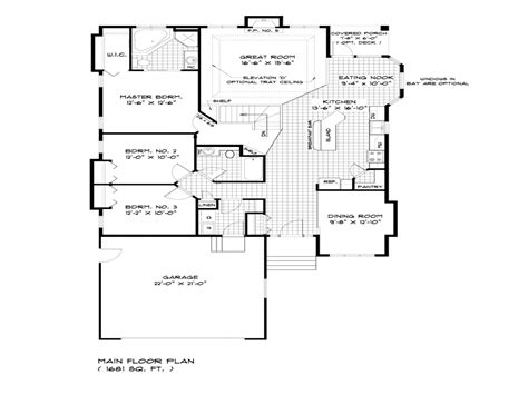 house plans single bungalow house floor plans single storey bungalow house
