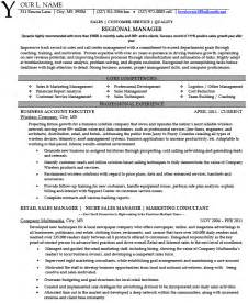 professional resume area sales manager regional sales manager resume exles images