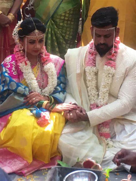 prarthana behere actress marriage wedding  abhishek
