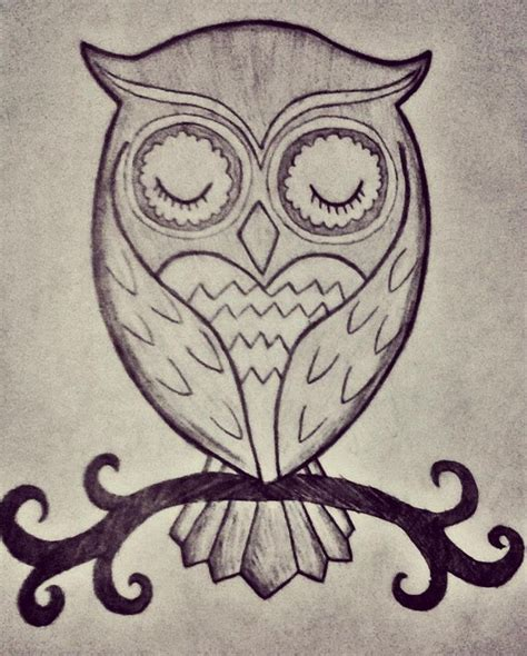 simple owl drawings best 25 owl sketch ideas only on
