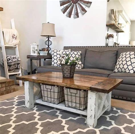 Diy farmhouse coffee table from 2×4's. Chunky Farmhouse Coffee Table - BigDIYIdeas.com