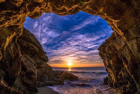 Beach Cave in Malibu, California 5k Retina Ultra HD ...