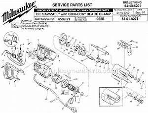 Milwaukee 6509-21 Parts List And Diagram