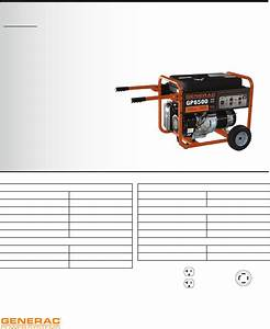 Generac Power Systems Portable Generator Gp6500 User Guide