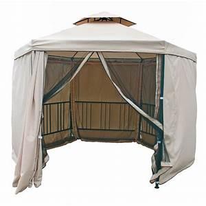 Pavillon 6 Eckig : dema metall pavillon gartenpavillon 6 eckig 270x347 cm fliegenschutz neu 41049 ebay ~ Indierocktalk.com Haus und Dekorationen