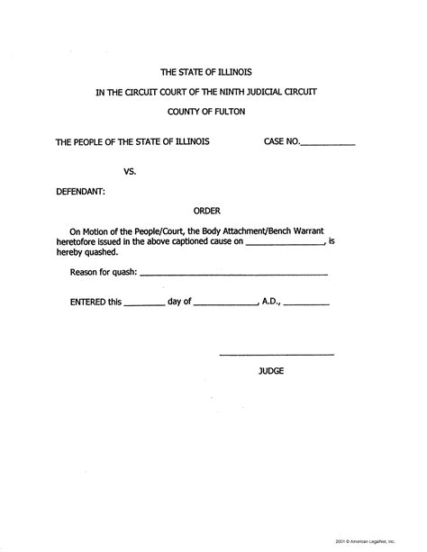 Bench Warrant In Florida by Notice Of Motion Template Ebook Database