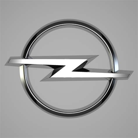 Opel Car Logo by Opel Logo 3d Model Buy Opel Logo 3d Model Flatpyramid