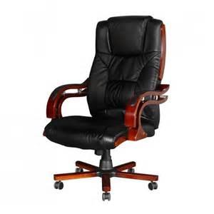 Chaise De Bureau En Cuir Noir by Fauteuil De Bureau Design En Cuir Noir En Promotion Pas Cher