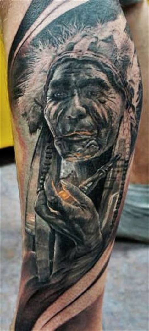 american indian smoking  pipe tattoo tattooimagesbiz