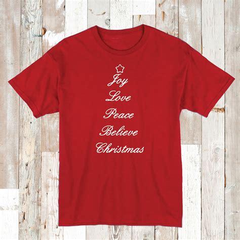 joy love peace  christmas tee shirt christmas