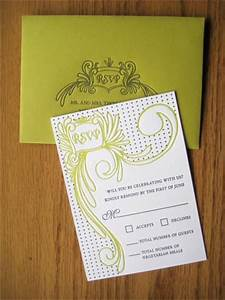 chartreuse charcoal wedding invitations With wedding invitation printing green bay wi