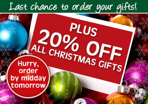 Last Chance To Order Your Gifts + 20