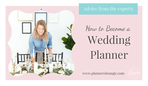 how to become a wedding planner blog