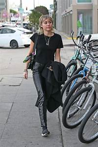 MILEY CYRUS Arrives at a Studio in West Hollywood 01/17 ...