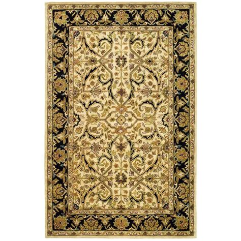 pastel area rugs safavieh chatham ivory black 6 ft x 9 ft area rug 1420