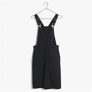 Madewell Denim Jumper Dress In Washed Black in Black | Lyst