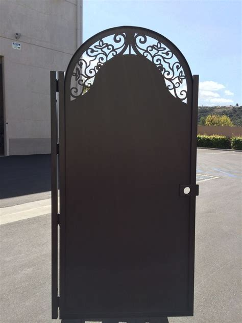 solid metal gate custom factory direct sale wrought iron
