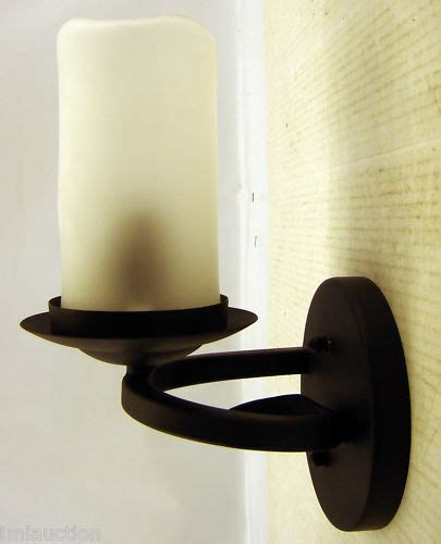 candle light wall sconce electric rubbed bronze ebay