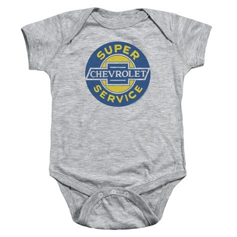 Chevy Baby Romper Super Service Athletic Heather Infant