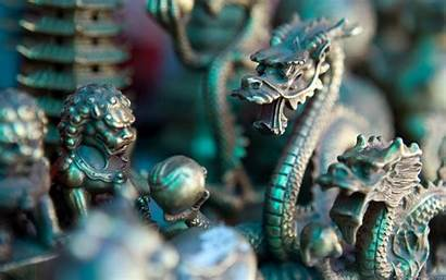 Dragon Chinese Sculpture Wallpapers Bronze Dragons China