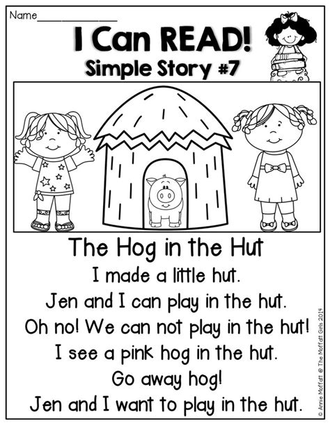 Simple The House Story Placement by I Can Read Simple Stories Stories That