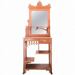 rare and modern etagere with mirror and drawer vanity With miroir etagere