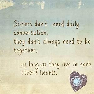 Love n three... Mom N Sis Quotes