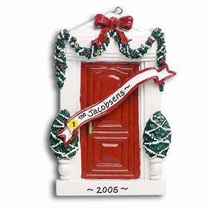 Personalized Christmas Ornament Red Door by