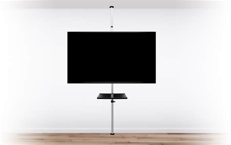 support cuisine tablette support tv sur pied orientable et inclinable potorose