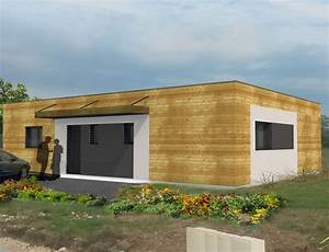 Maison Ossature Bois Toit Plat : maison moderne a toit plat et ossature bois nos projets maison plain pied ~ Melissatoandfro.com Idées de Décoration