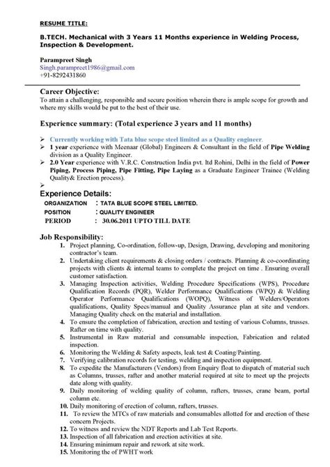 Editable Resume Formats by Editable Welding Resume Template Pdf Format E Database Org