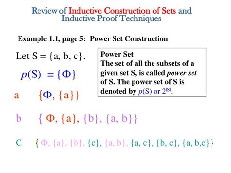 Ppt  Review Of Inductive Construction Of Sets And