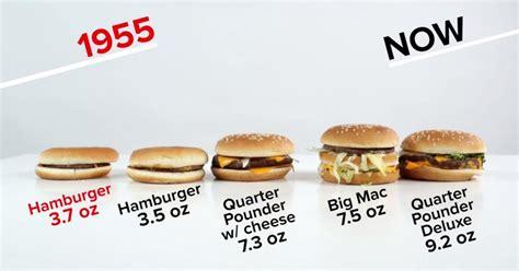 proportion cuisine mcdo 50 ans après les burgers ont bien changé vidéo meltystyle