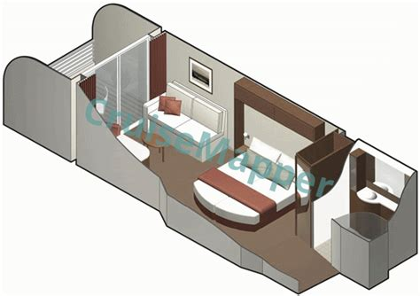 silhouette deck plans obstructed balcony silhouette cabins and suites cruisemapper