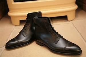 Handmade Mens Oxford Dress Boot, Men Black Lace Up Ankle ...