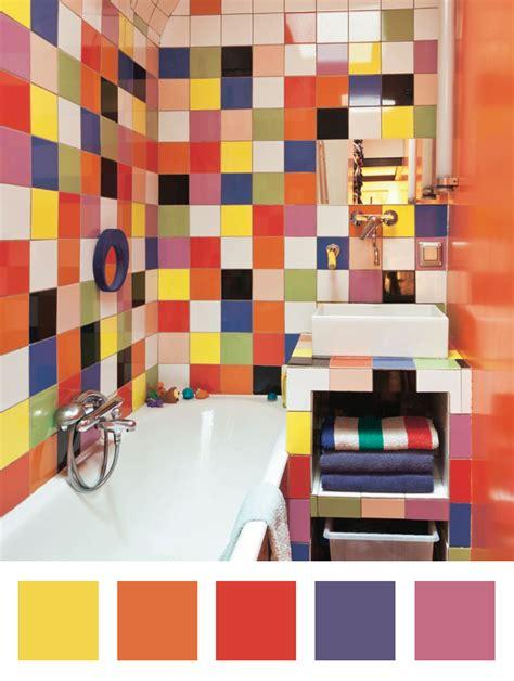 une salle de bains quot arlequin quot dccv carrelage couleurs ludique enfants coloris deco