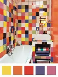 Amenagement Salle De Bain : une salle de bains arlequin dccv carrelage couleurs ~ Dailycaller-alerts.com Idées de Décoration