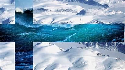 Finland Flag Snow Mountains Sea Finlandia Paesaggio