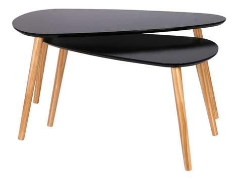 Tables Basses Gigognes Hanna Coloris Noir  Vente De Table