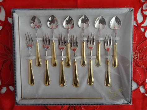 Silver Plated Dessert Cutlery Set 12 Pieces