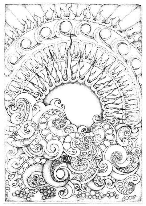 Sun and surf | Zentangle art, Tangle art, Doodle art