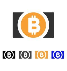 bitcoin cash banknote icon royalty  vector image