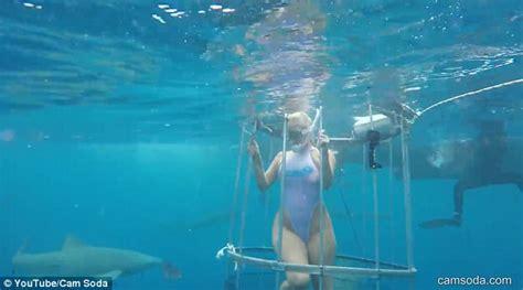 porn star molly cavalli cries    ft shark bites